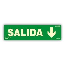 RÓTULO SALIDA (Flecha Abajo)