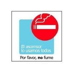 """RÓTULO POR FAVOR, NO FUME""""..."""
