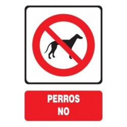 SEÑAL DE PERROS NO