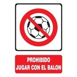 SEÑAL PROHIBIDO JUGAR CON...