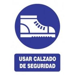 SEÑAL USO DE CALZADO DE...