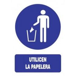 SEÑAL DE USO DE PAPELERA