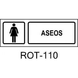 Rótulo Aseo Mujeres