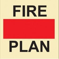 Señal de plano de incendio