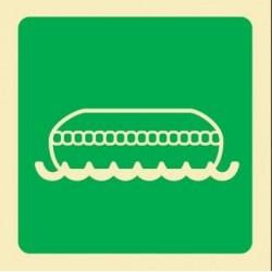Señal de bote salvavidas