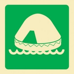 Señal de balsa salvavidas